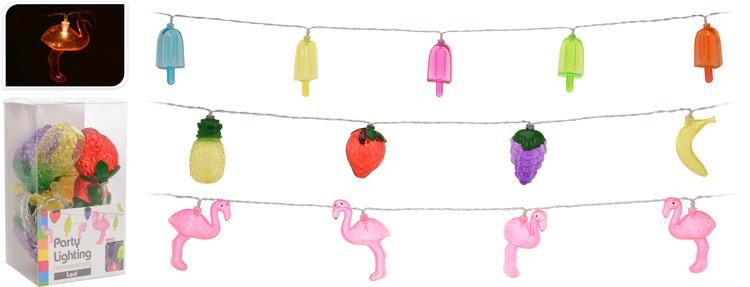 Feestverlichting Flamingo/ijs/fruit kopen