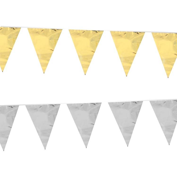 gouden of zilveren vlaggenlijn partytent kopen