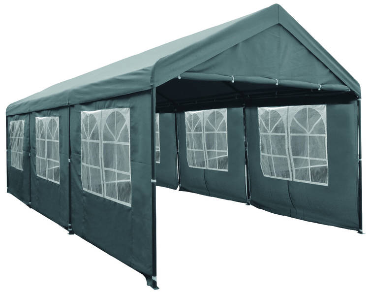 pure garden living partytent met zijwanden 3x6 meter deluxe grijs partytent kopen. Black Bedroom Furniture Sets. Home Design Ideas