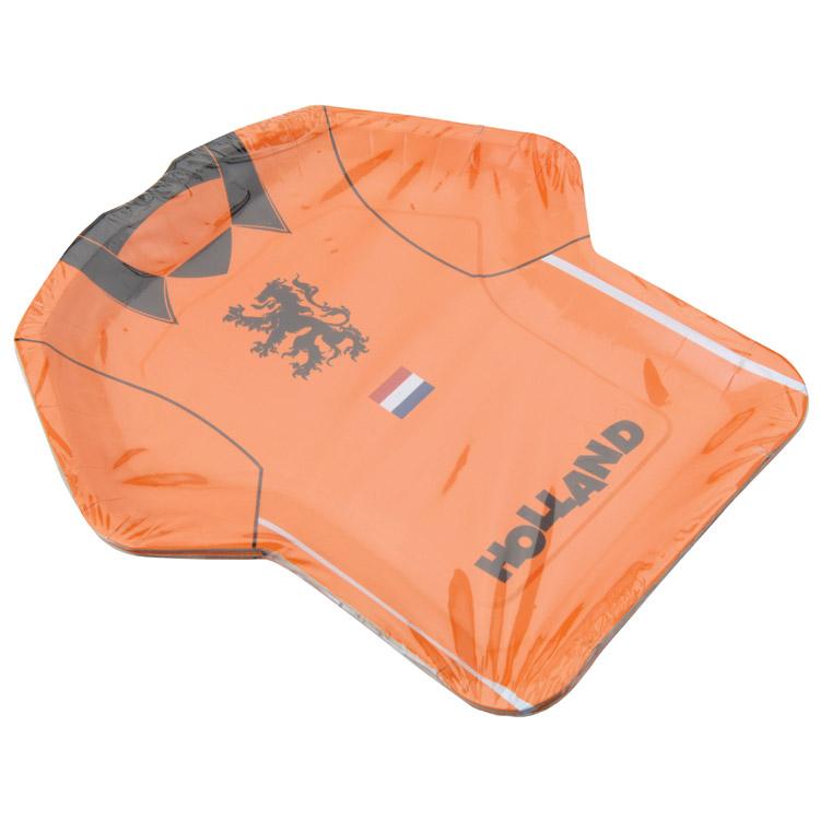 Partybordjes Shirt Oranje 8 stuks kopen