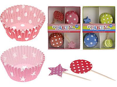 Cupcake versieringen 48-delig kopen