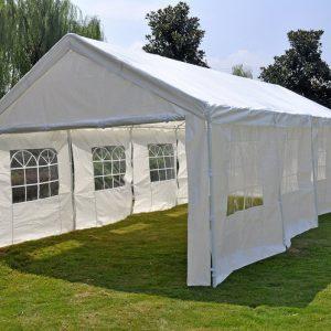 Pure Garden & Living partytent met zijwanden 4x8 meter wit kopen