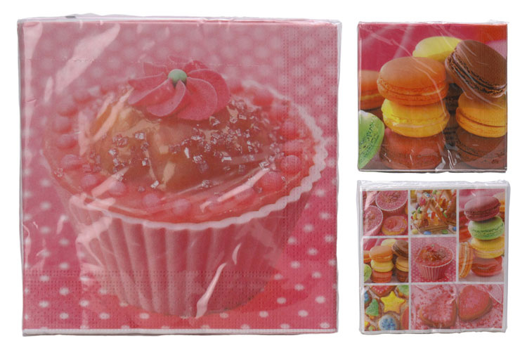 Servetten Cupcake 33x33 kopen